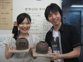 東京の陶芸教室千秋工房 ブライダル体験 Aコース