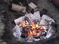 「器楽」の第1回野焼き体験旅行