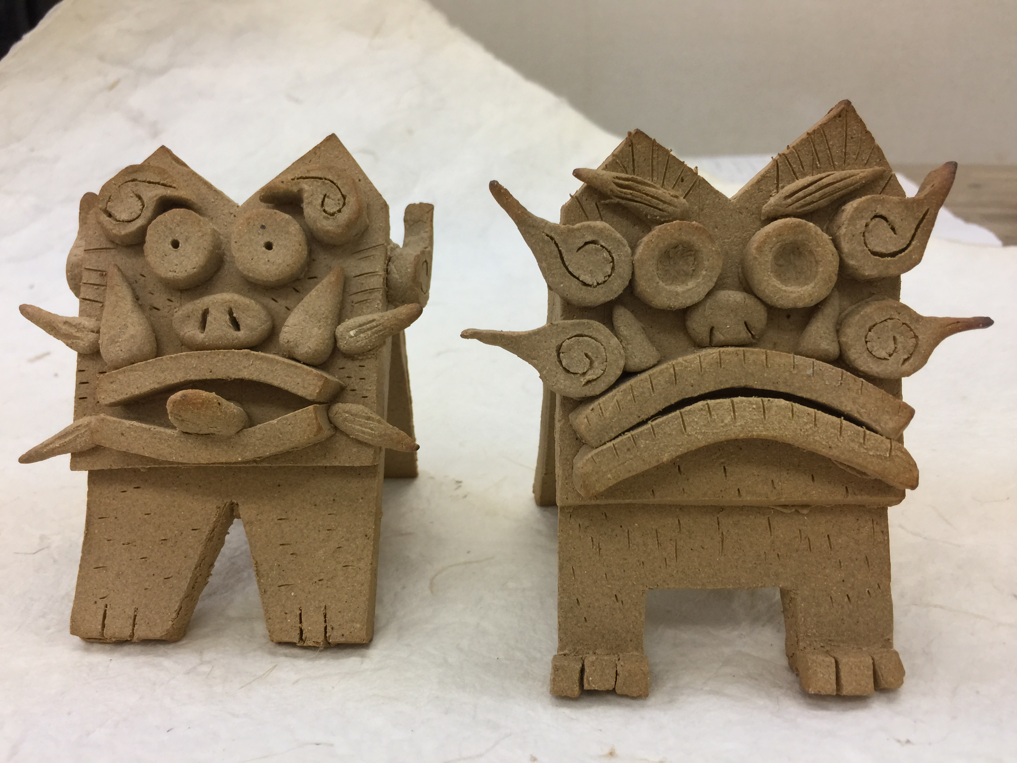 東京の陶芸教室千秋工房 シーサー体験