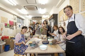 東京の陶芸教室千秋工房 教室の風景4