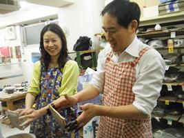 東京の陶芸教室千秋工房 ランプシェード